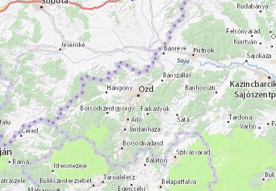 Ózd Map