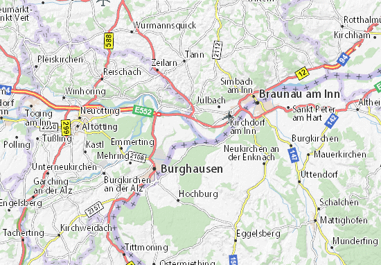 Karte, Stadtplan Winklham - ViaMichelin