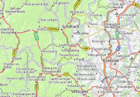 Karte Stadtplan Schramberg
