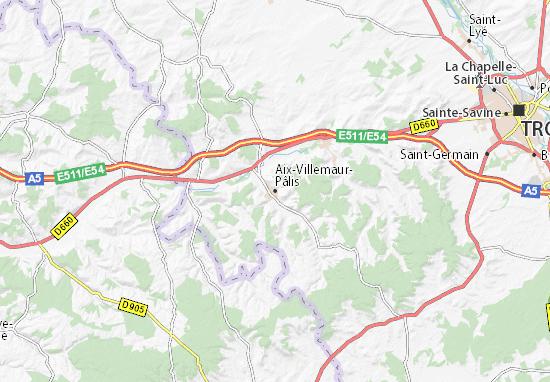 Carte-Plan Aix-Villemaur-Pâlis