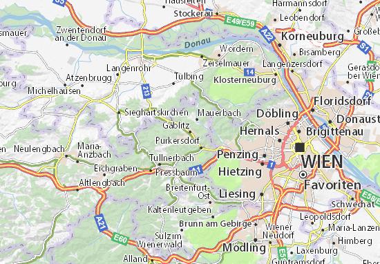 Karte Stadtplan Gablitz