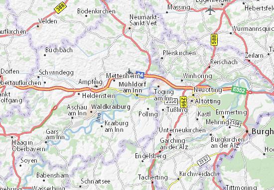 Mapa Plano Mühldorf am Inn