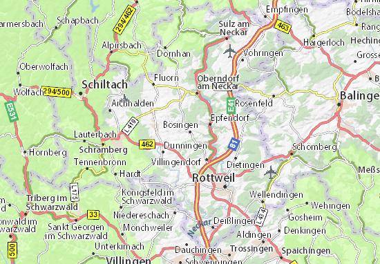 Karte Stadtplan Bösingen