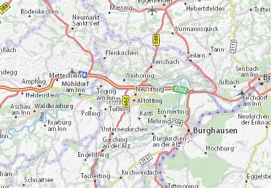 Karte Stadtplan Neuötting