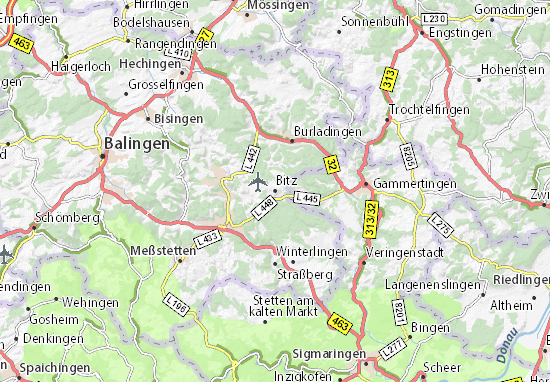 Karte Stadtplan Bitz