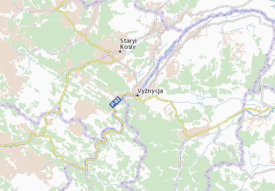 Vyžnycja Map