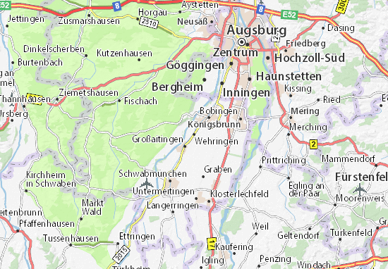Karte Stadtplan Wehringen