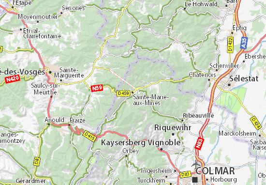 Mapas-Planos Sainte-Marie-aux-Mines
