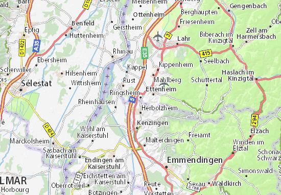 Karte Stadtplan Ringsheim