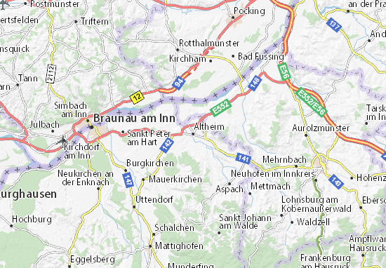 Kaart Plattegrond Altheim