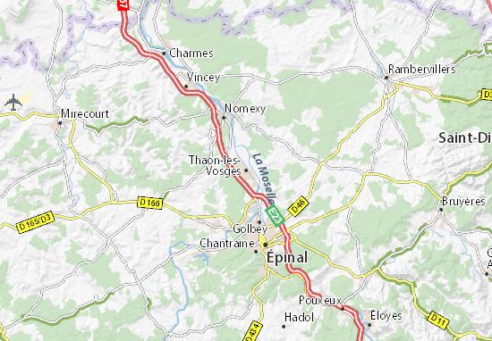 Kaart Plattegrond Thaon-les-Vosges