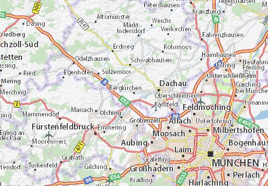 Karte Stadtplan Bergkirchen