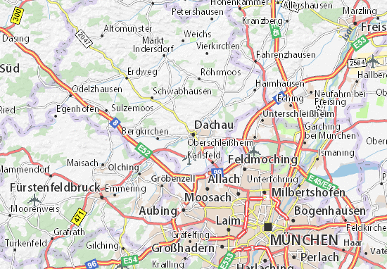 Karte Stadtplan Dachau