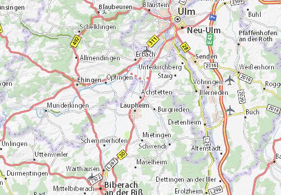 Achstetten Map Detailed Maps For The City Of Achstetten Viamichelin