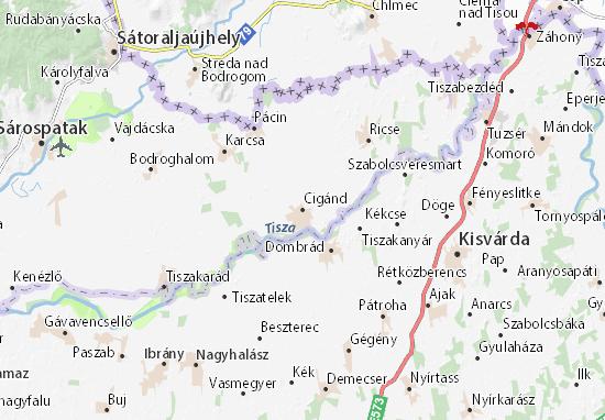 Cigánd Map