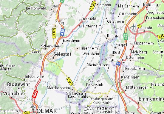 Carte-Plan Wittisheim