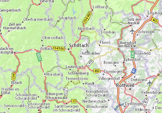Carte-Plan Aichhalden