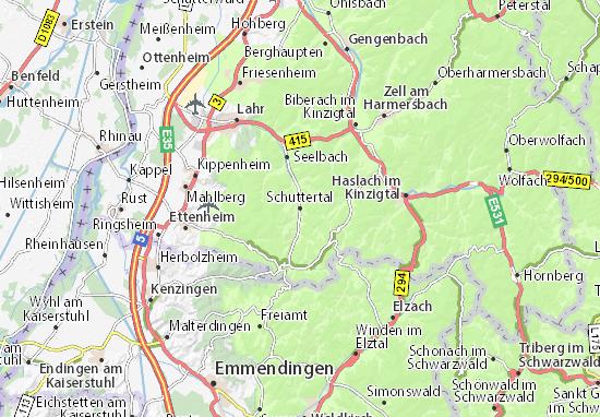 Karte Stadtplan Schuttertal