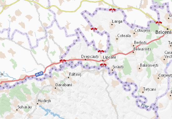 Drepcăuţi Map