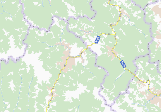 Kaart Plattegrond Lazeshchyna