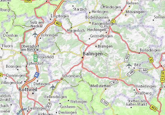 Karte Stadtplan Balingen