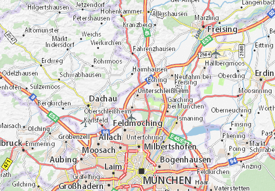 Karte Stadtplan Unterschleißheim