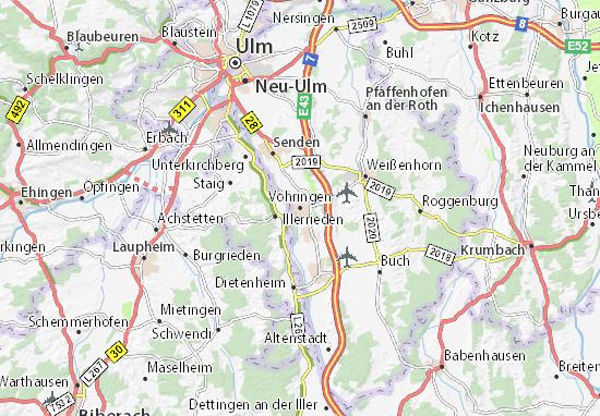 Vöhringen Map