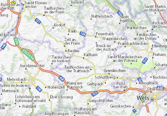 Karte Stadtplan Kallham