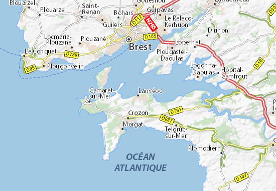 Lanvéoc Map