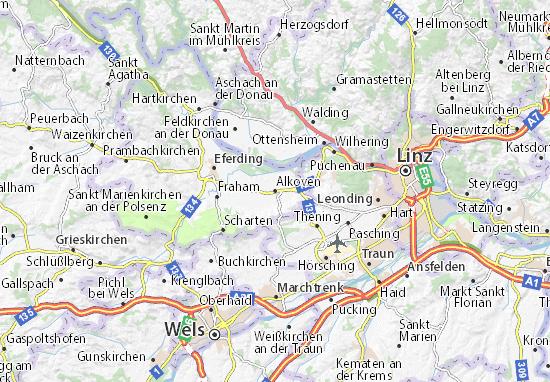 Karte Stadtplan Alkoven