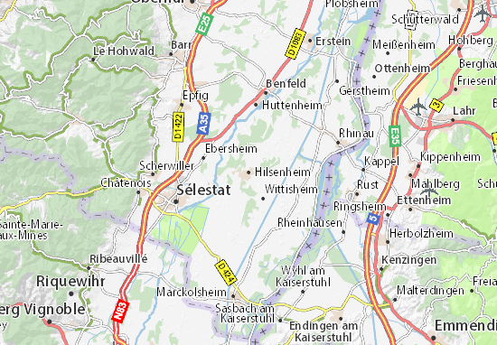 Karte Stadtplan Hilsenheim