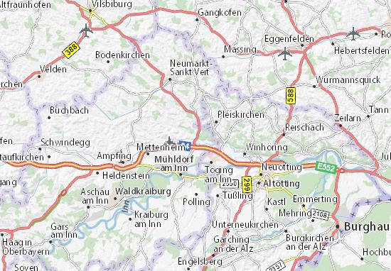 Karte, Stadtplan Rohrbach - ViaMichelin