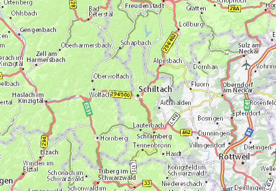 Karte Stadtplan Schiltach