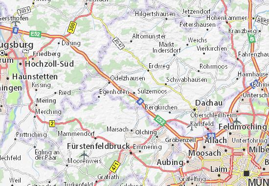 Karte Stadtplan Sulzemoos
