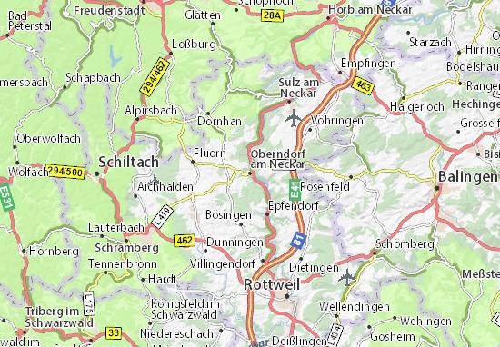 map of oberndorf am neckar michelin oberndorf am neckar map viamichelin. Black Bedroom Furniture Sets. Home Design Ideas