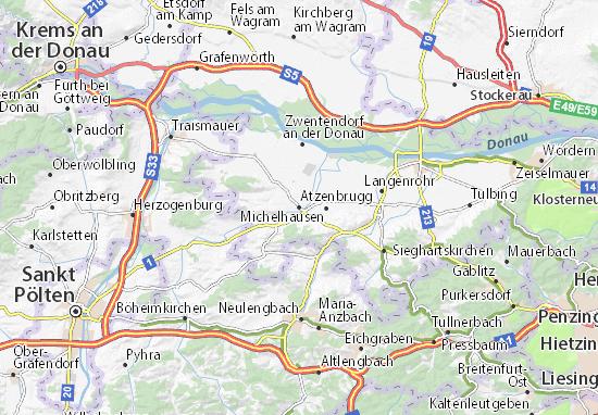 Karte Stadtplan Atzenbrugg