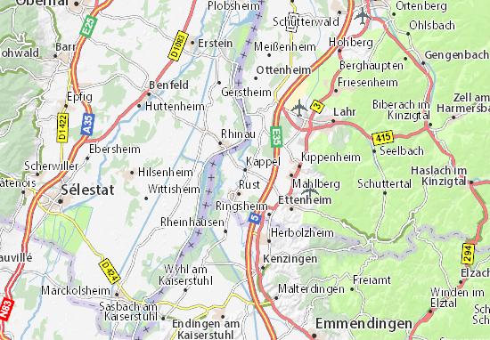 Karte Stadtplan Kappel