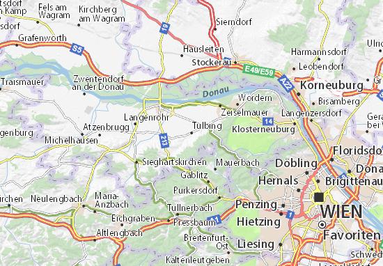 Karte Stadtplan Tulbing