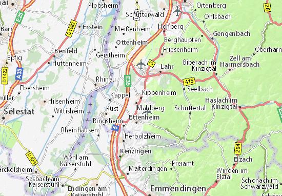 Karte Stadtplan Kippenheim