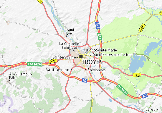Mappe-Piantine Troyes