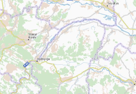 Carte-Plan Berezhnytsya