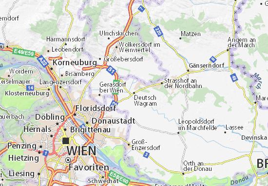 Mapa Plano Deutsch Wagram
