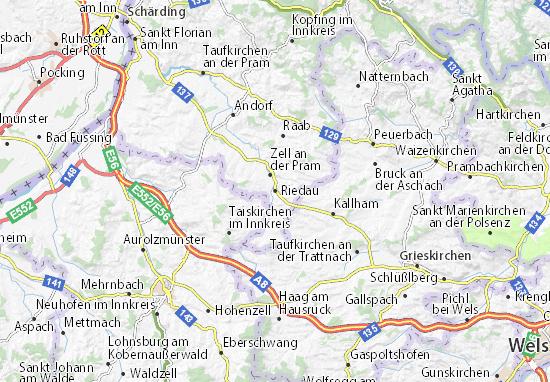 Karte Stadtplan Riedau
