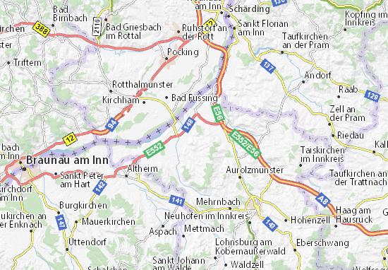 Detailed map of Mörschwang - Mörschwang map - ViaMichelin