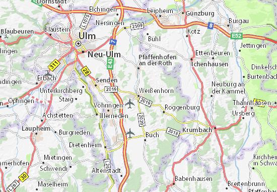 Weißenhorn Map