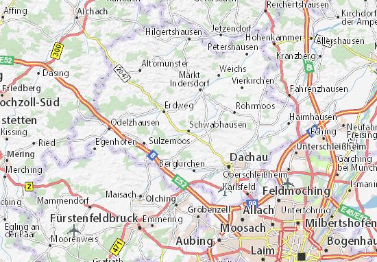 Karte Stadtplan Schwabhausen