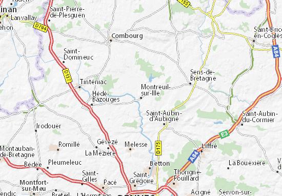 Mapas-Planos Montreuil-sur-Ille