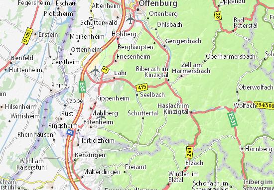 Karte Stadtplan Seelbach