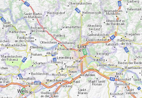 Karte Stadtplan Puchenau