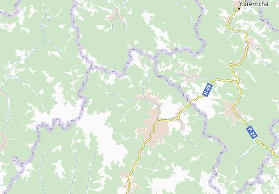Kaart Plattegrond Chorna Tysa